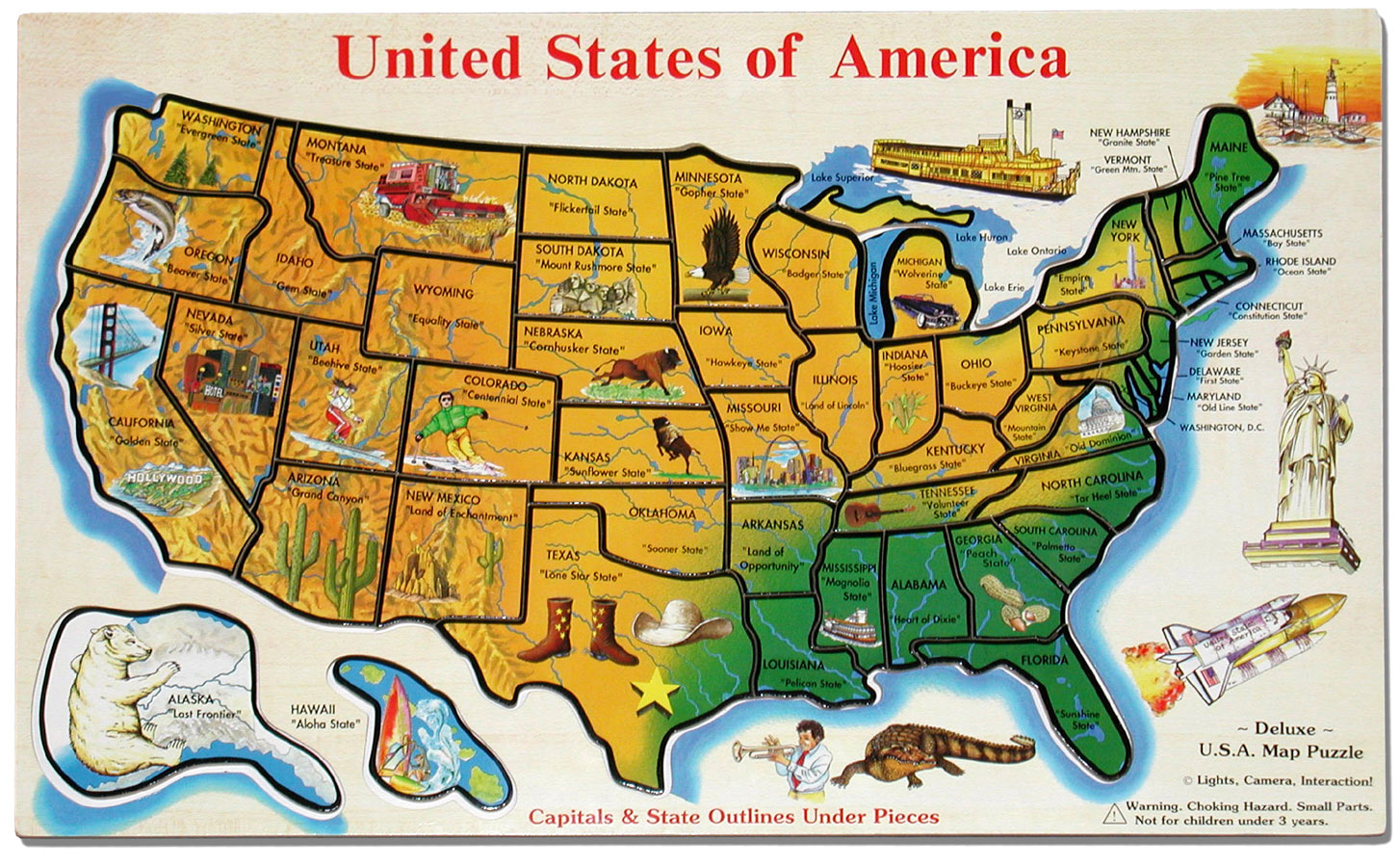 Maps Us Map Game Puzzle
